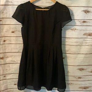 Forever 21 women's sheer black dress